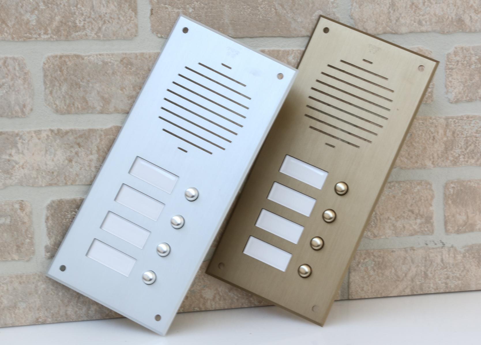 Pbrbo Pulsantiere Per Campanelli In Alluminio Anodizzato